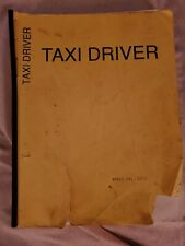 TAXI DRIVER Early Screenplay Script Paul Schrader