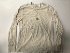 Ralph Lauren Denim Supply Henley Long Sleeve Shirt Cream White Size Large Yeezy