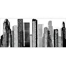 CITYSCAPE Giant wall Sticker MURAL Room Decor Buildings City SkyScraper