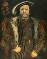 Stunning oil painting Holbein Hans - Male Portrait of Henry VIII canvas