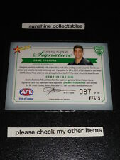 2012 FUTURE FORCE GREEN SIGNATURE JIMMY TOUMPAS FFS15 MELBOURNE 087/150