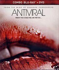 NEW BLU-RAY + DVD w/ SLIPCOVER  // Antiviral -  Caleb Landry Jones, Sarah Gadon,