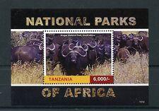 Tanzania 2015 MNH National Parks Africa 1v S/S II Kruger Park Wildebeest Stamps