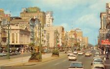 Canal Street Scene, New Orleans, Louisiana ca 1960s Vintage Postcard