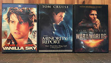 Tom Cruise 3-DVD Movie Lot- Minority Report, Vanilla Sky, War of the Worlds
