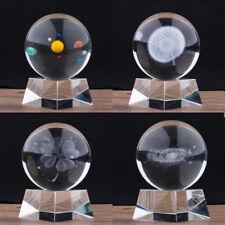 80mm Solar Galaxy Crystal Ball 3D Laser Engraved Quartz Glass Ball Home Decor