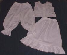 Girls 100% cotton underwear Victorian Edwardian American Civil war costume