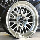 XXR 531 16 x 8 Silver Wheels Rims Deep Dish Lip 4x100 Stance Hellaflush Mesh