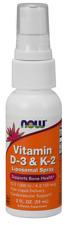 NOW FOODS Vitamin D3 and K2 Liposomal Spray (Bone Health) 59ml FREE SHIPPING