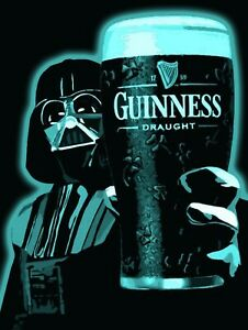 Da Vader Guinness, Retro replica vintage style metal tin sign gift Pub bar shed