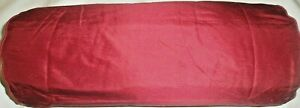 45CM JOHN LEWIS RED 100%SILK BOLSTER ROUND PIPED EDGES PILLOW CUSHION COVER