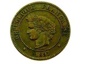 France 5 Centimes 1897 A Km821.1