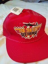 New Vtg Red Desert Storm Hat_Sportsman_Snapback_Thrift Drug_Trucker Hat_Veteran