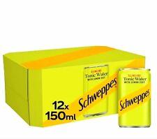 ✅PACK OF 12✅ Schweppes 150ml Mixers ✅Inc Lemonade,✅ Coca Cola, ✅Slimline Tonics✅