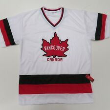 Vintage Team Canada Vancouver Olympics Hockey Jersey Mens Medium White New