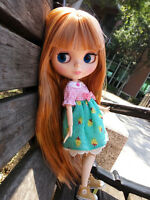 """12"""" Neo Blythe Doll From Factory Jointed Body Gold Hair With Bang"""