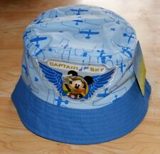 CHAPEAU BOB ETE FILLE GARCON MICKEY CAPTAIN OF THE SKY NEUF 48 OU 50 cm DISNEY