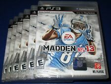 Lot of 6 Madden NFL 13 Sony PlayStation 3 - PS3 - *Factory Sealed! *Free Ship!
