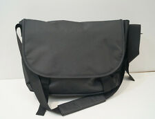 Menswear Black Extra Large Canvas Laptop Briefcase Messanger Shoulder Bag