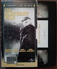 VHS FILM Ita Drammatico THE ELEPHANT MAN Hopkins Mondadori no dvd(VH45)