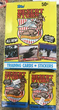 1991 Topps Desert Storm Trading Card 36ct Box + 19 Unopened Cards Victory Series