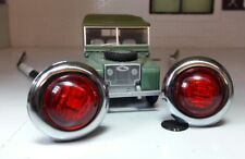 Toylander Land Rover Series 1 1/2 Scale Red Brake/Tail Lights Lucas Type x2