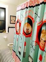 "Drag Queen Lady Bunny Shower Curtain,""Three Faces of Heave""  Gay Camp"