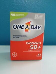 One A Day Womens 50+ Support Vitamin D B E C Multi Biotin Zinc 65 Thiamin 10/21