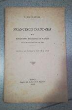 FRANCESCO D'ANDREA RINASCITA FILOSOFICA IN NAPOLI CORTESE 1920