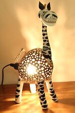 Lampe de noix Coco Zèbre Debout Luminaire chambre d'ENFANTS Lumière animale