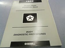 1999 Dodge/Plymouth Neon Body Diagnostic Service Manual FREE Shipping!!