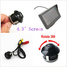 """DC12V Wide Angle Rotatable Vehicles Reverse Camera + 4.3"""" LCD Display For Toyota"""