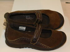 Merrell Youth Jr. sz 3 EU 34 Plaza Bandeau Dk. Brown Suede Leather Mary Janes