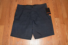 NWT Mens HAWKE & CO Charcoal Honeycomb Stretch Woven Shorts Size 36