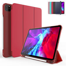 For Apple iPad Pro 11 10.5 10.2 9.7 Leather Smart Case Cover with Pencil Holder
