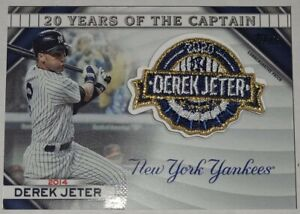 Derek Jeter 2020 Topps Update Commemorative Patch Card 2014 #20YCC-14 Yankees