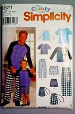 Simplicity 0621 Father & Son Pajamas Clothes sewing  pattern New
