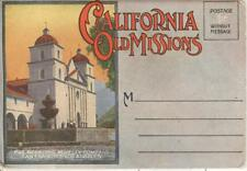 FOLD-OUT POSTCARD~CALIFORNIA OLD MISSIONS~18 VIEWS