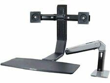 Ergotron WorkFit Mounting Arm for Flat Panel Display Polished Black 24312026 NEW