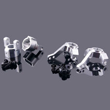 AXIAL SCX10-01+SCX10-02 Silver Front Knuckle Arm+C Hub Carrier For RC 1/10 SCX10