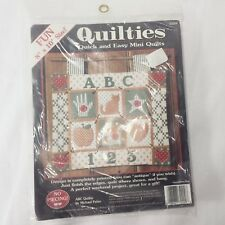 NEW ABC Quiltie Kit Michael Palan Mini Quilt Craft Alphabet Teacher Gift USA NIP