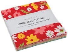 "Mama's Cottage Moda Charm Pack 42 100% Cotton 5"" Precut Fabric Quilt Squares"