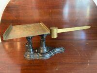 Antique Fairbanks Cast Iron & Brass Fancy 4 lb. Balance Scale 1800's Postal