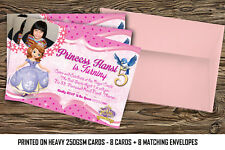 Personalised kids/ Birthday Party Invitations Sofia The First x 8 cards  (A6)