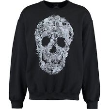 Designer BOLONGARO TREVOR Black Skull Graphics Sweatshirt / Jumper size L