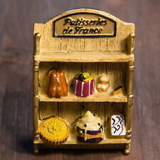 Resin Fridge Magnet: France. Shelf of French Confectioneries (Premium Quality)