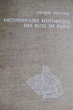 Paris  Dictionnaire historique des rues de Paris de A à K 1963