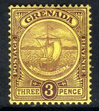 Grenada 1908 - 11 KEV11 3d Purple / Yellow MM SG 84  ( E329 )