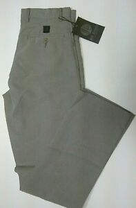 Men's Dog Tooth Check Grey Trousers  Smart Casual Office Work By Jet Jeans