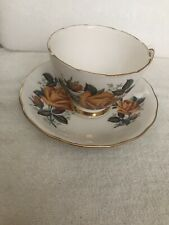 Lovely Tea Cup And Saucer Set Bone China Colclough by Ridgway Pottery Ltd.